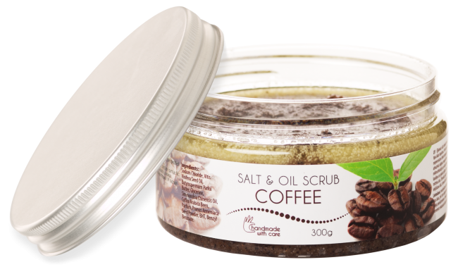 Salt & oil body scrub